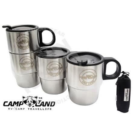 CAMP-LAND 生活家 304不鏽鋼雙層咖啡杯組