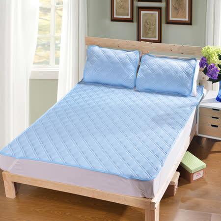3D網層涼感 舒眠雙人床墊組(2枕1床)