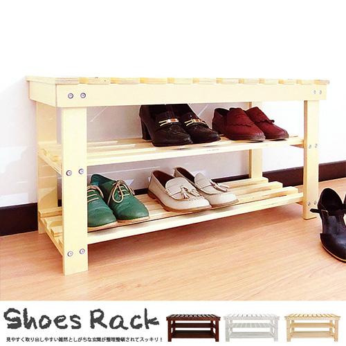 實木層板 簡樸風簡易穿鞋椅