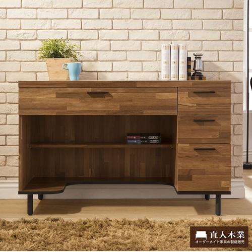 【日本直人木業】Hardwood工業生活120CM書桌