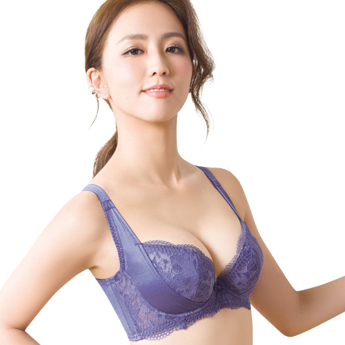 【思薇爾】柔挺美學系列B-G罩蕾絲美背塑身內衣(楹花紫)