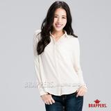 BRAPPERS 女款 女用口袋雪紡襯衫-米白