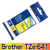 Brother TZe-641 護貝標籤帶 18mm 黃底黑字