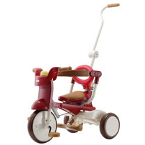 【升級款】日本iimo #02兒童三輪車(折疊款-紅色)