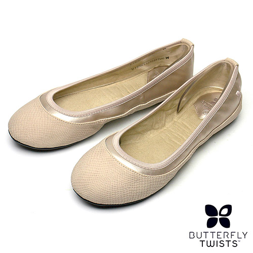 BUTTERFLY TWISTS-HANNAH可折疊扭轉芭蕾舞鞋-裸膚白