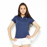 TOP GIRL-素面百搭吸排POLO衫-藍(品特)