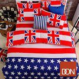 《DON美式風潮》單人三件式蜜絲絨全舖棉兩用被床包組
