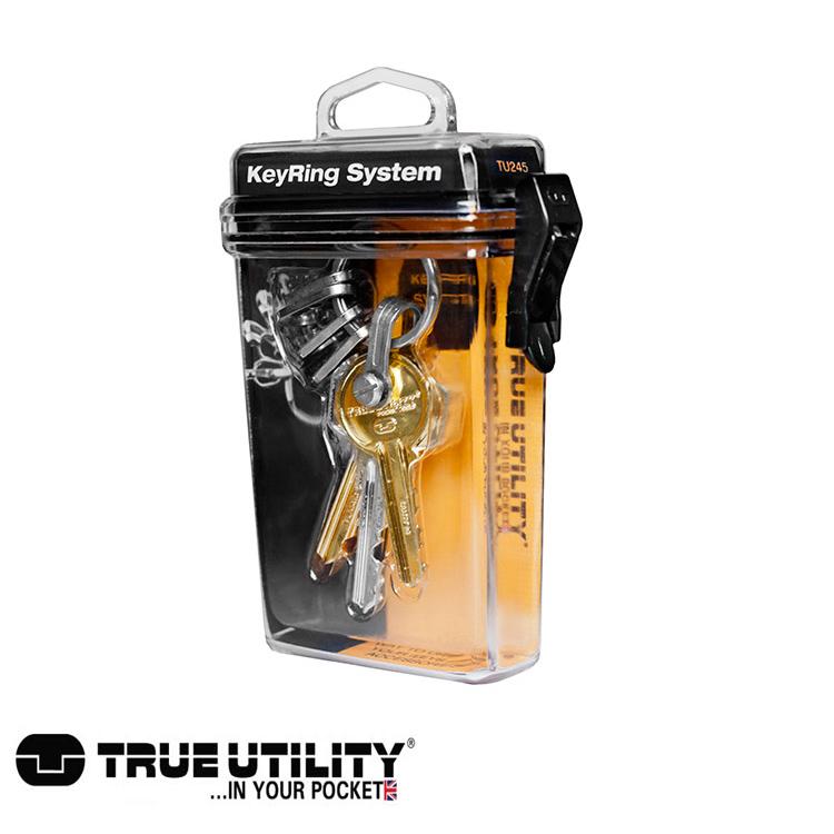 TRUE UTILITY KeyRing System鑰匙圈扣環組 城市綠洲 鑰匙圈、方便、鉤環、整理