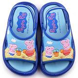 童鞋城堡-粉紅豬小妹 佩佩豬 中小童 戶外拖鞋PG0031-藍