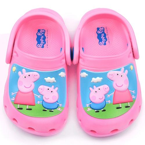 童鞋城堡-粉紅豬小妹 中童 花園鞋PG0001-粉