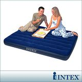 【INTEX】雙人植絨充氣床墊-寬137cm (68758)