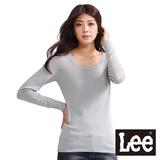 Lee-毛衣 長袖圓領針織-女款(灰)