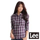 Lee 格紋襯衫 純棉格子 -女款(紫)