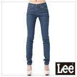 Lee牛仔褲 407標準中腰窄管 -女款(中藍)