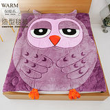 【伊柔寢飾】可愛卡通法蘭絨造型被.可當毯子/可當棉被-貓頭鷹(紫)