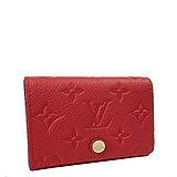 Louis Vuitton LV M58457 經典花紋皮革壓紋信用卡零錢包.紅 預購