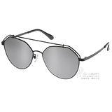 Go-Getter 太陽眼鏡 韓版摩登造型款 (銀黑-白水銀) #GS0003 C02