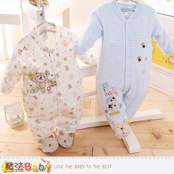 魔法Baby 包腳連身衣 法國設計細絲絨包屁衣 k60099