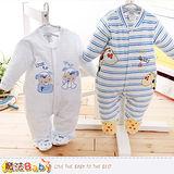 魔法Baby 包腳連身衣 法國設計細絲絨包屁衣 k60111