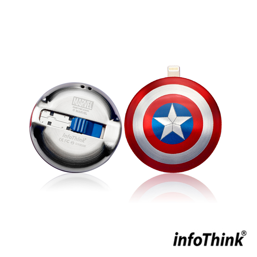 InfoThink IHERO美國隊長IPHONE雙頭隨身碟 16GB