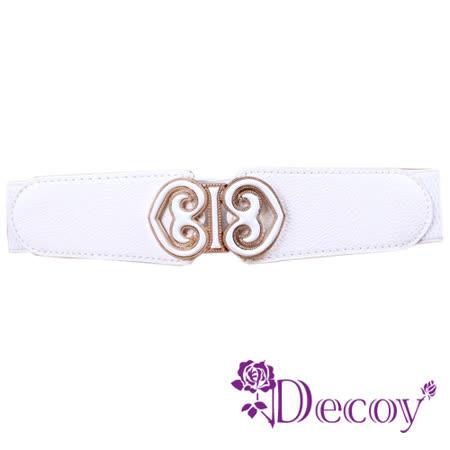 【Decoy】雙邊桃心*皮革彈性腰封/三色可選