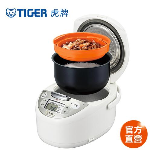 【TIGER 虎牌】日本製 10人份tacook微電腦多功能炊飯電子鍋 (JAX-S18R-WX)/買就送虎牌380CC保溫保冷食物罐+專用料理食譜