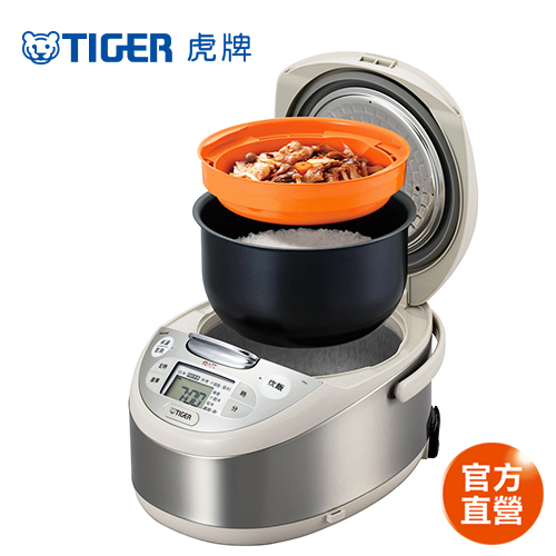 【TIGER 虎牌】日本製 10人份tacook微電腦多功能炊飯電子鍋(JAX-G18R-CX)/買就送虎牌380CC保溫保冷食物罐+專用料理食譜