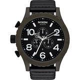 NIXON 51-30 CHRONO LEATHER 潛龍諜影運動腕錶-A1242138