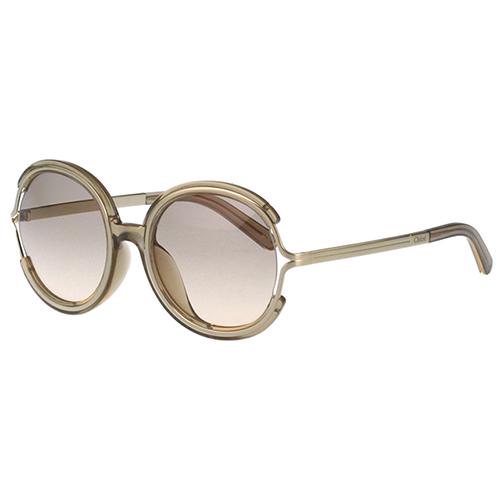 Chloe太陽眼鏡 復古圓面造型(茶配金)CE711SA-272