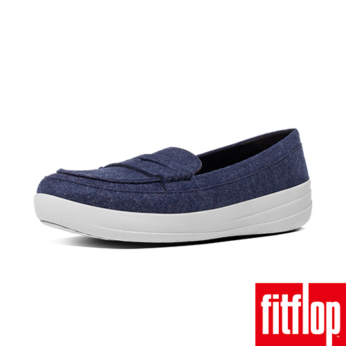FitFlop™~ 女款 F~SPORTY™ PENNY LOAFERS~FELT~深藍