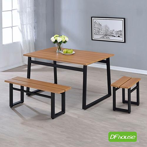 ~DFhouse~英式工業風~餐桌 1雙人餐椅 1單人餐椅