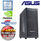 華碩X99平台【天祤熾凌】I7-6800K六核 240G SSD/GTX1070獨顯電競機