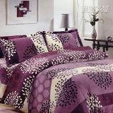 【韋恩寢具】搖粒絨被套床包組-加大/浪漫滿屋