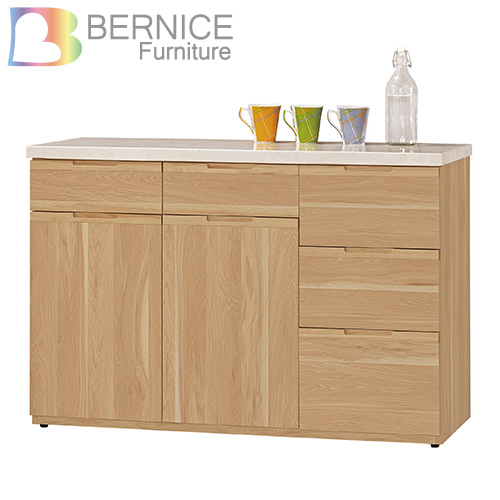 Bernice~維克德4尺石面收納餐櫃 下座