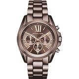 Michael Kors MK 羅馬假期三眼計時腕錶-咖啡/42mm MK6247