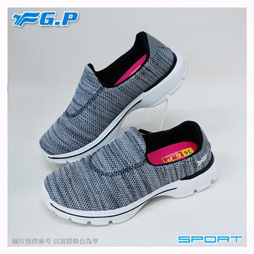 【G.P 輕量休閒懶人鞋】P7622W-70 灰色 (SIZE:36-40 共三色)