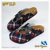 【G.P 休閒個性柏肯鞋】W778-14 黑紅色 (SIZE:35-39 共二色)
