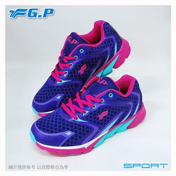 【G.P 輕量運動鞋】P7619W-41 紫色 (SIZE:36-40 共三色)