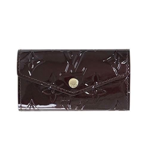 Louis Vuitton LV M90909 Vernis皮革經典壓花4孔鑰匙包.紫紅_預購