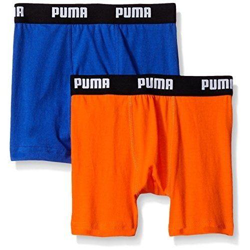 PUMA 2016男孩學生柔軟鈷藍橙四角內著混搭2件組【預購】