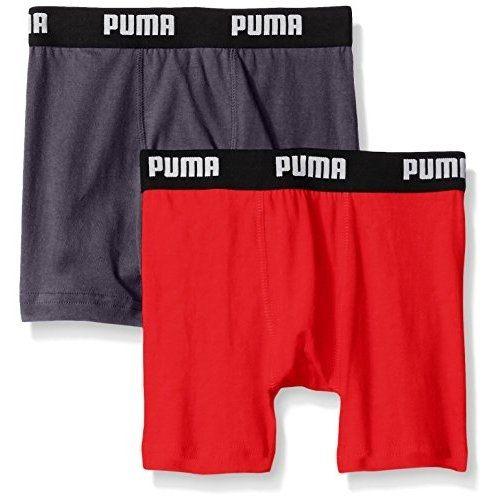 PUMA 2016男孩學生柔軟碳黑紅四角內著混搭2件組【預購】