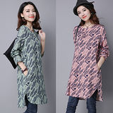 【C.R.】復古印花棉麻洋裝