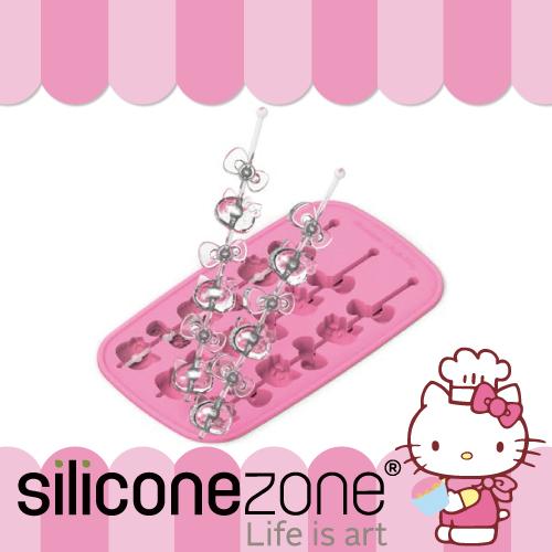 【Siliconezone】施理康 Hello Kitty 多用途耐熱矽膠冰棒/巧克力模