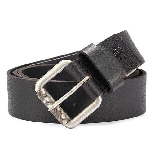 Timberland 霧面金屬釦頭穿式皮帶禮盒-黑色