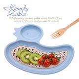 【Homely Zakka】麥趣食光健康環保小麥鴨子瀝水餐盤 (天空藍)