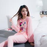 Wonderland LN45.6# Minnie Walk棉質居家休閒衣褲組(粉)