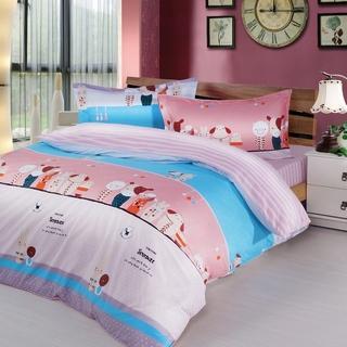 夢工場 搪瓷娃娃精梳棉被套床包組 -雙人