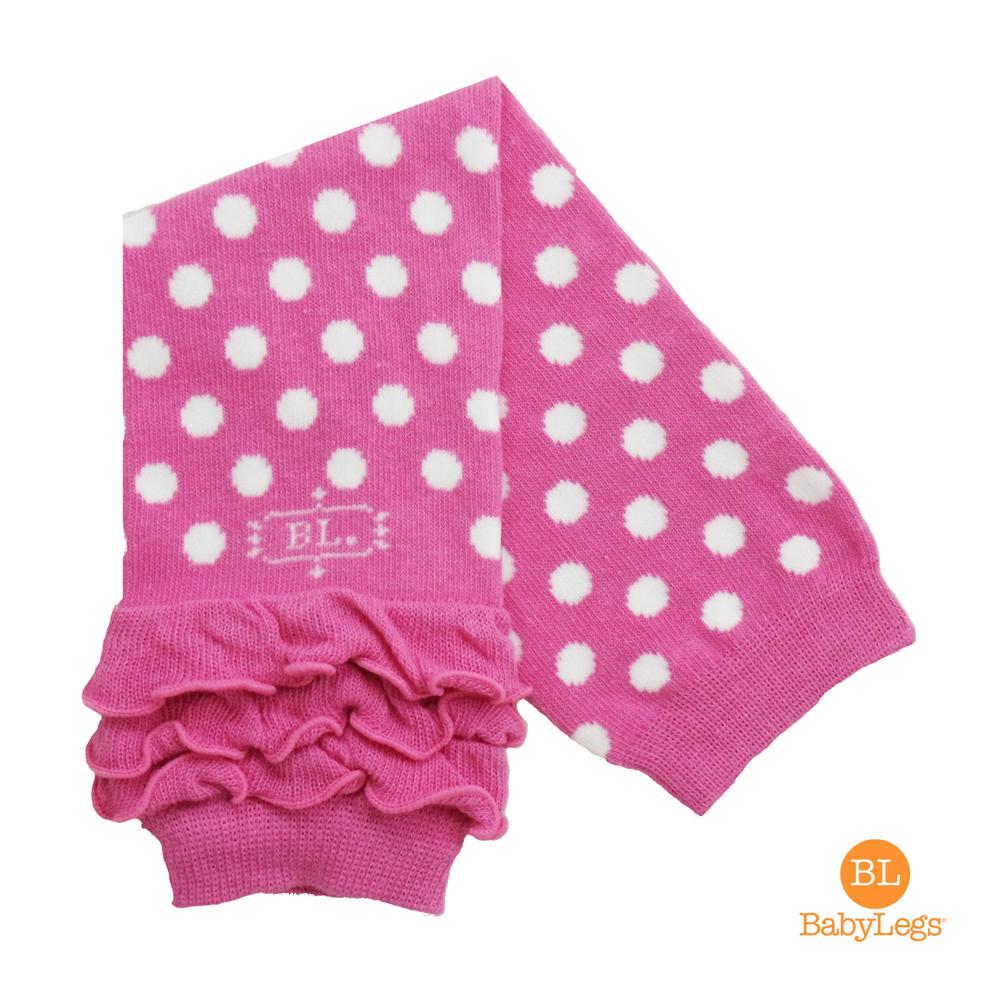 美國 BabyLegs 有機棉嬰幼兒襪套  粉紅點點