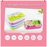 【Incare】不鏽鋼防燙扣式攜帶密封餐盤(1入)