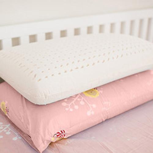 奶油獅 正版授權-成人專用~馬來西亞進口100%純天然麵包造型乳膠枕 -粉紅(二入)